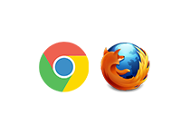 Desktop - Google Chrome and Firefox